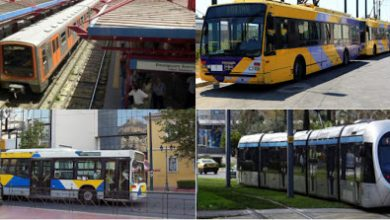 Πώς θα κινηθούν τις επόμενες ημέρες μετρό, τραμ, λεωφορεία – Τι ισχύει με διόδια, ΚΤΕΛ και ταξί