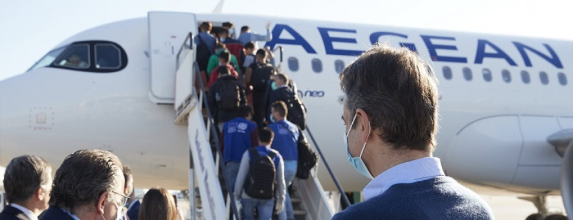 Για την Γερμανία αναχώρησαν 50 ανήλικοι πρόσφυγες - Στο αεροδρόμιο ο πρωθυπουργός
