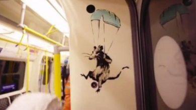 Ο Bansky ζωγράφισε στο μετρό του Λονδίνου τα ποντίκια του και δημοσίευσε βίντεο (vid)